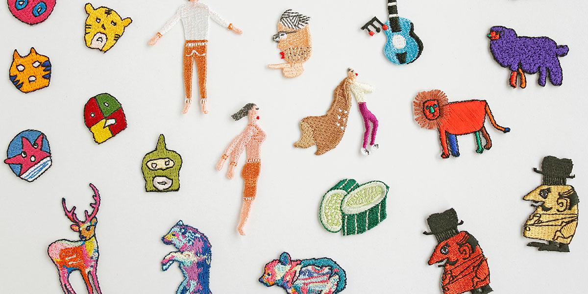 ハンカチ専門店 H TOKYOのハンカチ刺繍