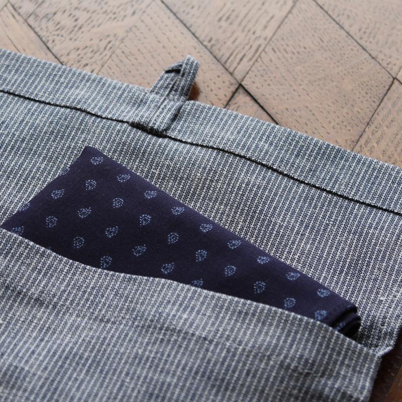 ちょっとしたご旅行などにハンカチをまとめてもっていける、ご自宅用やちょっとしたお返しなどで人に差し上げるのに最適なオリジナルトラベルバッグ。
