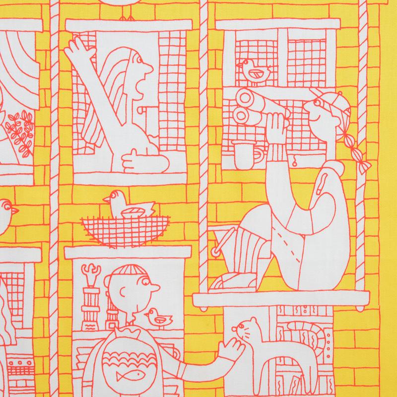 ハンカチのイメージは、休み時間を表してます。 窓拭き屋さんはバードウォッチャー。  リラックスしている彼らを見て、少しでも穏やかな気持ちになってくれたら嬉しいです。