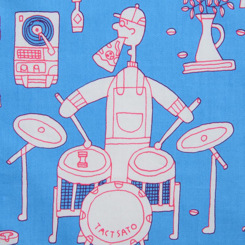 ハンカチのイメージは、休み時間を表してます。 ピザ屋さんはジャズバンド。  リラックスしている彼らを見て、少しでも穏やかな気持ちになってくれたら嬉しいです。