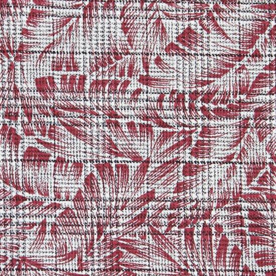 グレンチェックの生地に植物のプリントをのせ、少しカジュアルダウンしたハンカチです。 柔らかい触り心地の気持ちのいい生地感です。  サイズ46×46cm、綿100%、千鳥縫製、日本製