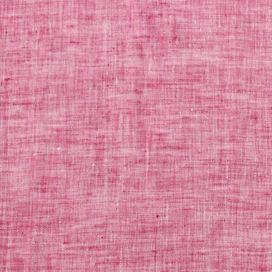 シャリ感のある素材ですが、手触りが優しく馴染みます。 発色がとても綺麗な、イギリス LINGTON製生地。  46×46cm、麻100%、ハンドロール縫製、日本製。