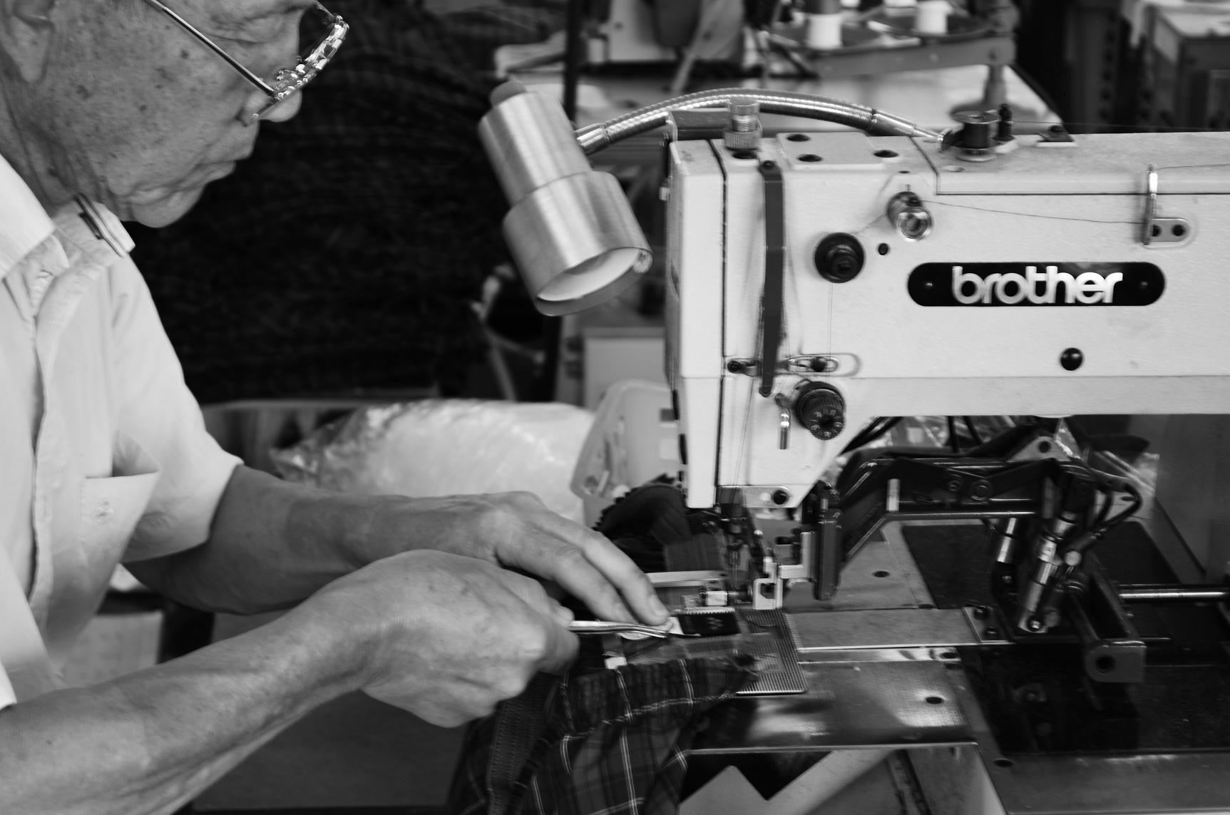 トランクス縫製